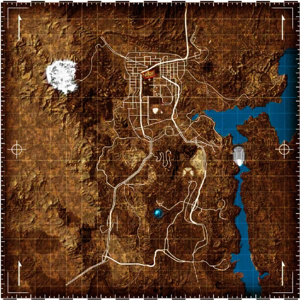 Fallout new vegas how to use map